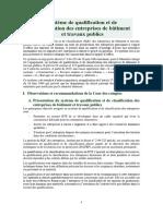 Systeme de Qualification Et de Classification Des Entreprises BTP