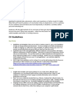 CV Guidelines (1)