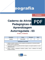 Geografia Regular Professor Autoregulada 3s 3b