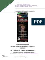 Teatro de La Sensacion Taller de Danza Contemporanea y Movimiento-febrero 2019