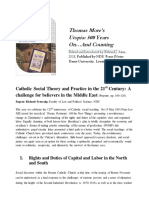 Catholic Social Theory and Practice in the 21st Century