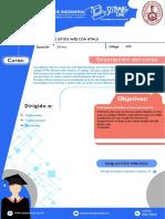 Silabo Diseño de Sitios Web Con Html5