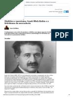 Dialética e Marxismo_ Isaak Illich Rubin e o Fetichismo Da Mercadoria