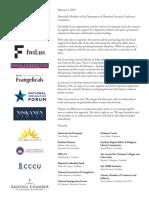 Dreamers, Border Secruity Deal, Coalition Letter