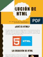 Evolución de HTML