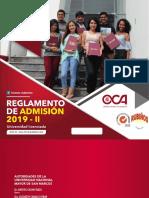 Reglamento de admisión 2019-ii