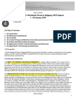 U.S. Navy Office of Naval Intelligence Worldwide Threat to Shipping (WTS) Report 1 - 30 January 2019