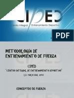 Entrenamiento de Fuerza. Revisión bibliográfica y metodológica. CIPED