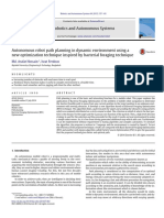 2015 Autonomous Robot Path Planning in Dynamic Environment Using a New Optimization Technique Inspired by Bacterial Foraging Technique