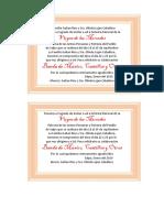Tarjeta de Invitacion Fiesta de Salpo
