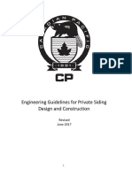 CP Engineering Guidelines for Private Siding Construction