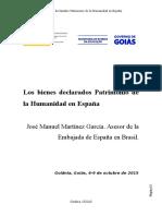 Los bienes declarados Patrimonio de la Humanidad en España MARTINEZ