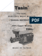 Tasin TS-102AL Electric Meat Mincer Instructions