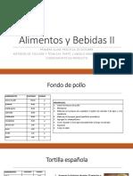 Recetas AYB II Clase 1