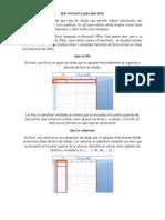 Que Es Excel y Para Qué Sirve