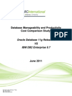 Database Manageability and Productivity June 2011