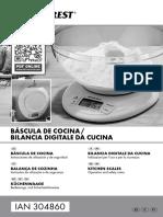 Báscula cocina, manual 304860_ES