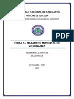 Informe de Prácticas Al Matadero Moyobamba.