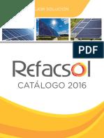 Catalogo de equipo para sistemas fotovoltaicos