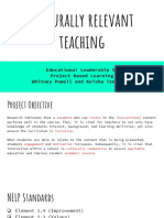 culturally relevant teaching pbl  presentations