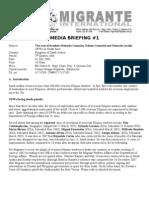 Media Briefing on Gonzales and Arcilla Case