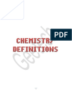 Chemistry Definitions