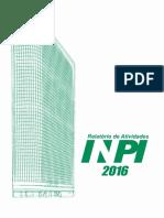 Relatorio de Atividades Inpi 2016