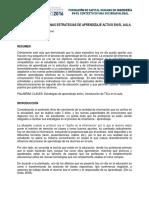 INTRODUCIENDO ALGUNAS ESTRATEGIAS DE APRENDIZAJE ACTIVO EN EL AULA.