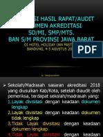 Hasil Audit Dokumen Akreditasi 2018