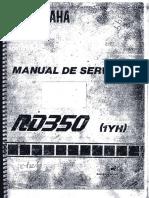 Manual de Serviço Yamaha RD350