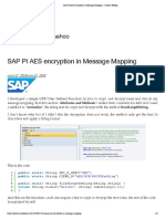 SAP PI AES Encryption in Message Mapping – Jaehoo Weblog