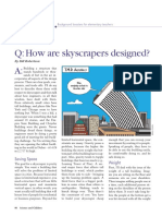 How are skyscrapers designed?