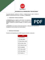 ClaroCR Terminos y Condiciones Promocion Por Recarga