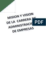 Misión - Vision de La Carrera