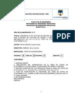 Plan de Mejora Metodología 5S Área de Corte Icoformas S