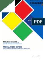Programas de Estudio Secundaria 2019