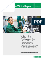 Beamex White Paper - Why Use Software for Calibration Management