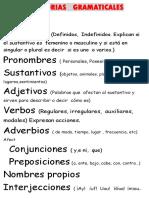 Categorias Gramaticales Ingles