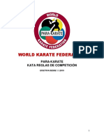 World Karate Federation.para Karate Reglas