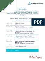 Programa Presentación del Plan de Actividades del Proyecto BM