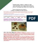 COMENTARIO CRONOLÓGICO 2º Península Ibérica y Mediterráneo, Del 2200 Al 1000 a.C. ANGEL GÓMEZ-MORÁN SANTAFÉ