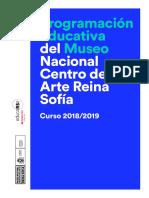 Programa Educativo Reina Sofia 2018-19