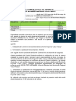 Acta de Instalacion de Comite Electoral - Qarun Tarpuy