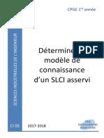 CI05 Cours - Déterminer Le Modèle de Connaissance d'Un Système Asservi (1)