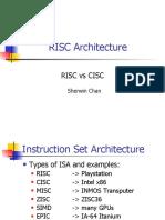 Sherwin Chan - RISC Architecture