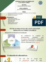 Técnicas Para Evaluar La Localización Mediante Factores Tangibles