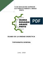 Silabo Topografia General 2018