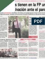 Prensa diario Que del 17-07-2008