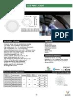 Venture LED Panel -Slim Rnd 18W-24W