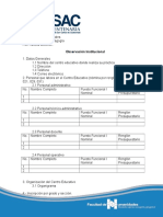 4. Formato de Observación Institucional